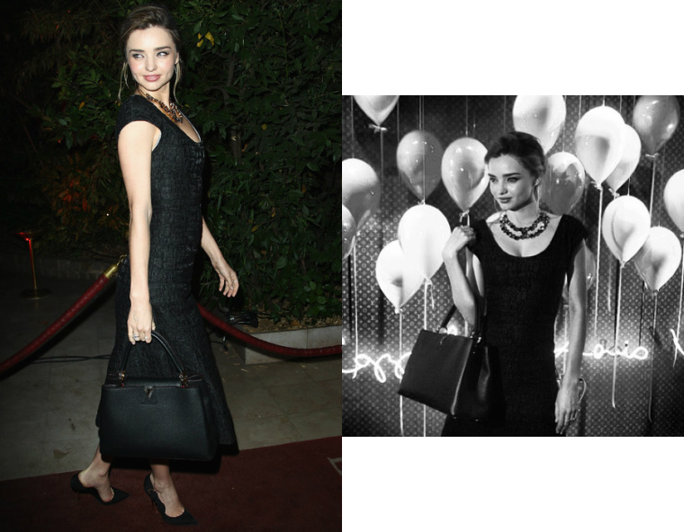 miranda kerr at french department store for collaboration betwen LV and sophia coppola images