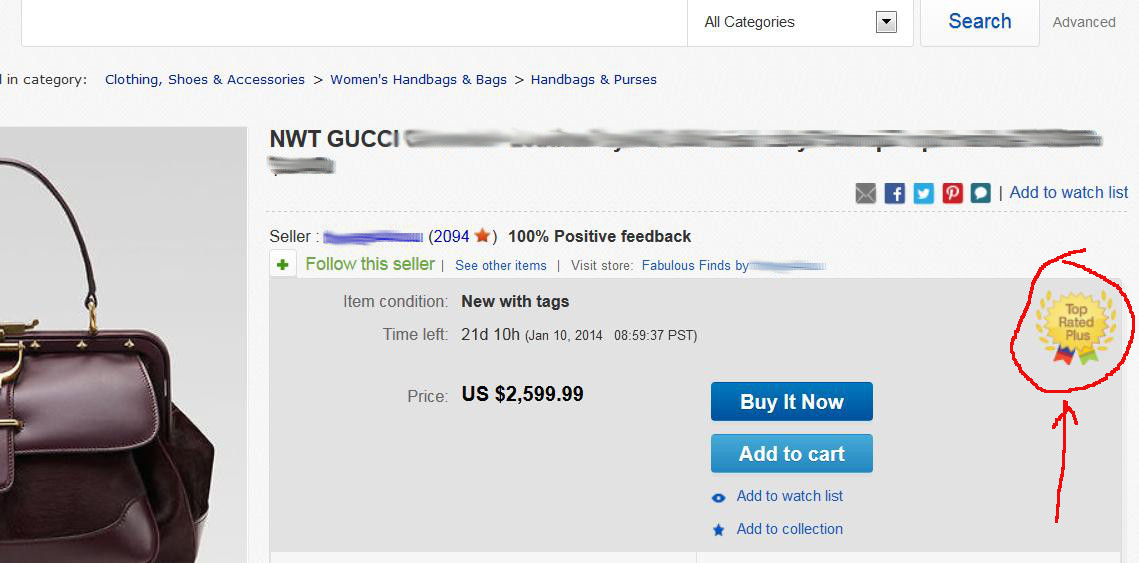 top rated plus seller on ebay photo