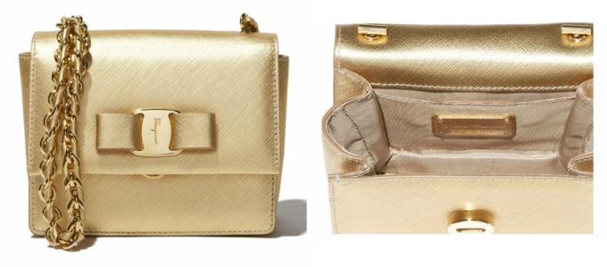 Mini Vara handbag in gold, model # 21E479 567122