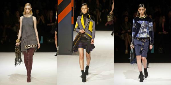 2014 Just Cavalli Brings Fringe Handbags To The Runway