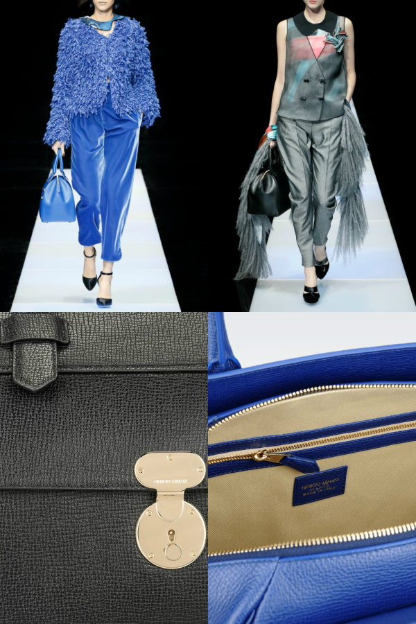 armani's bauletto handbags