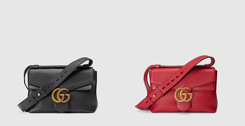 black and pink gucci gg marmont handbags