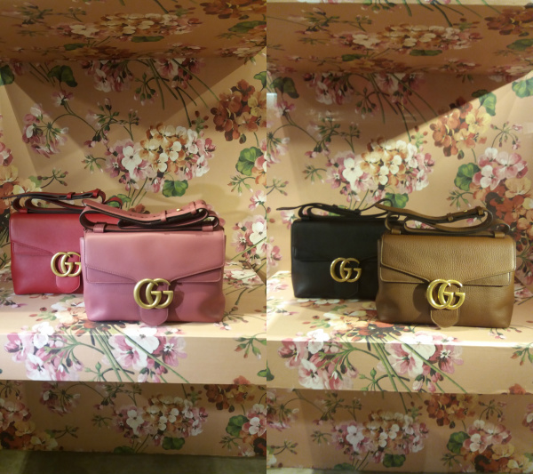 Striking GG Marmont Leather Shoulder Handbags by Gucci