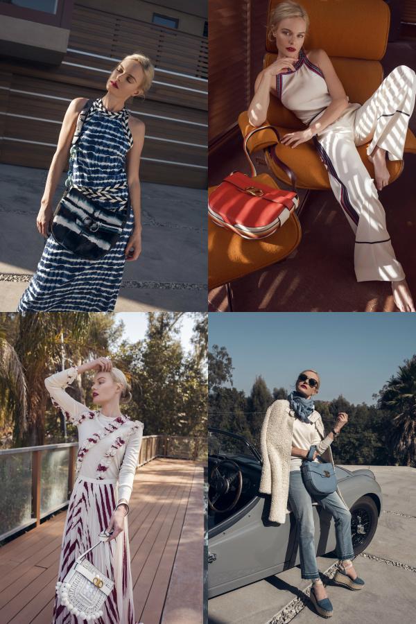 Kate Bosworth Showcased Tory Burch's Gemini Handbag Collection.
